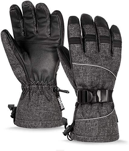 Unigear Guantes De Esquí Impermeable Calientes Nieve Snowboard Pantallas Táctiles Anti-Viento Guantes...