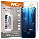 REY Protector de Pantalla para Vivo V17 Pro, Cristal Vidrio Templado Premium (Pack 3X)