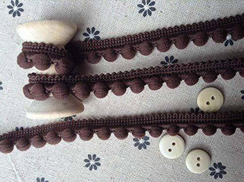 Pearl Pom Pom Bobble Trim Fringe Trimming - Kussen en Gordijn Decoratie, Home Decor - Medium Size Poms 10mm (0.4