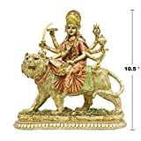 Hindu Goddess Lord Durga Statue - India God Murti Idol Home Temple Puja Sculpture - Indian Diwali Day Mandir Pooja Decoration