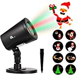 1byone Christmas Lights Projector Decorations Auto-Shifting Images & Switchable Pattern Outdoor/Indoor Use, Ip65 Water-Resistant