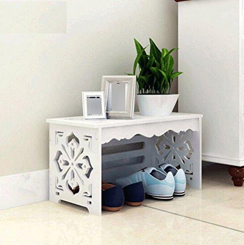 Porte-chaussures pour meubles d'entrée Simple style européen rural blanc Entrée Sculpté Changer talon de chaussure Cabinet de meuble-WXP (taille : A layer)