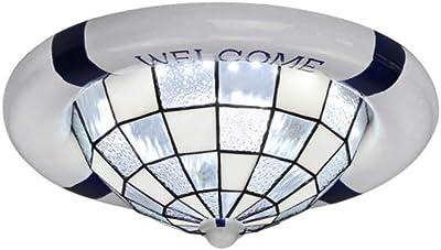 Amazon.com: Bagood - Lámpara de techo redonda con diseño de ...