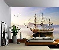 Bosakp カスタム3D写真壁紙高ヨット海壁壁画ポスター壁ステッカー家の装飾ビニールの装 400X280Cm