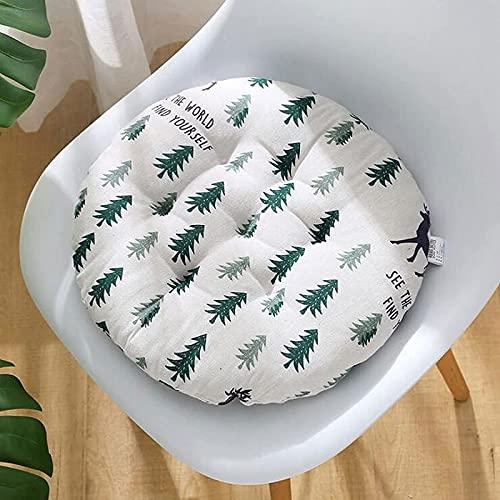 MGE - Cuscino rotondo per sedia da patio, cuscino per sedia da giardino, in stile bohémien, morbido, per ufficio, casa, bistrot all'aperto, dimensioni: 50 x 50 cm, colore: 12