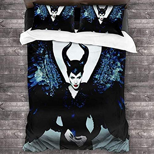 HUA JIE Bettwäsche für Männer 3-teiliges Set 1 Bettbezug 2 Kissenbezug Mikrofaserset Ultra Soft Zipper Colsure 3D Print 4