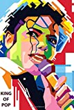 King of Pop: Colorful notebook with Michael Jackson, 100 lined pages, 6x9'' - MusicNotebooks