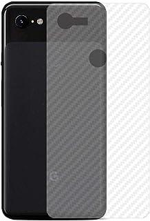 ستيكر كربون فايبر مرن لحماية خلفية الجوال لون شفاف لجوال جوجل بيكسل 3 إكس إل