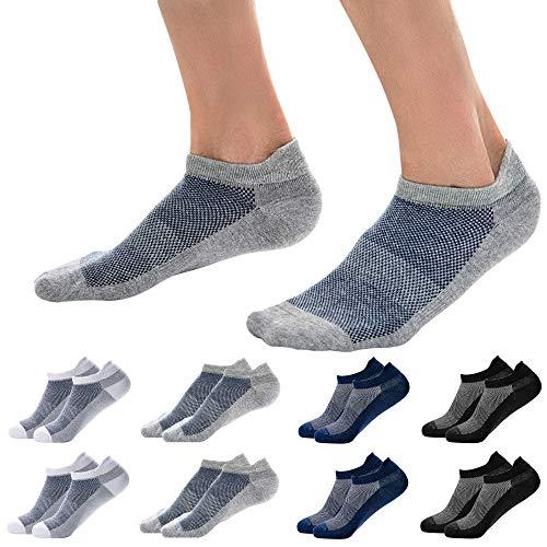 Okany Sportsocken Herren Damen Sneaker Socken Größe 37-47 Baumwolle Knöchel Laufsocken 6/8 Paar