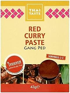 Thai Taste Red Curry Paste Sachet 43g - Pack of 6