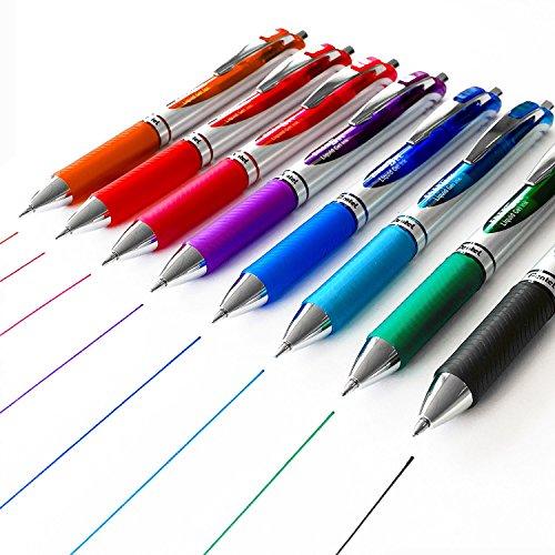 Pentel Energel XM BL77 (Druck-Gelschreiber, 0,7 mm + Ersatzminen, 8 Farben)