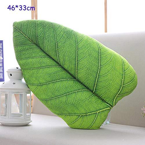 JJFU sierkussen vorm kussen hoofdkussen hoogwaardige 3D simulatie simulatie kussen plant blad kussen zachte huis groene plant decoratie vulling slaapkussen kantoor Siesta-Bohdi vakantie