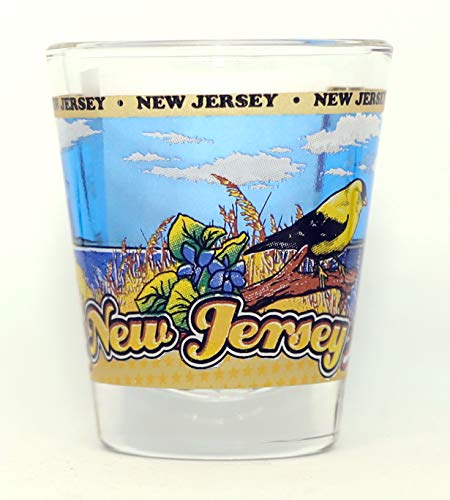 New Jersey State Wraparound Shot Glass