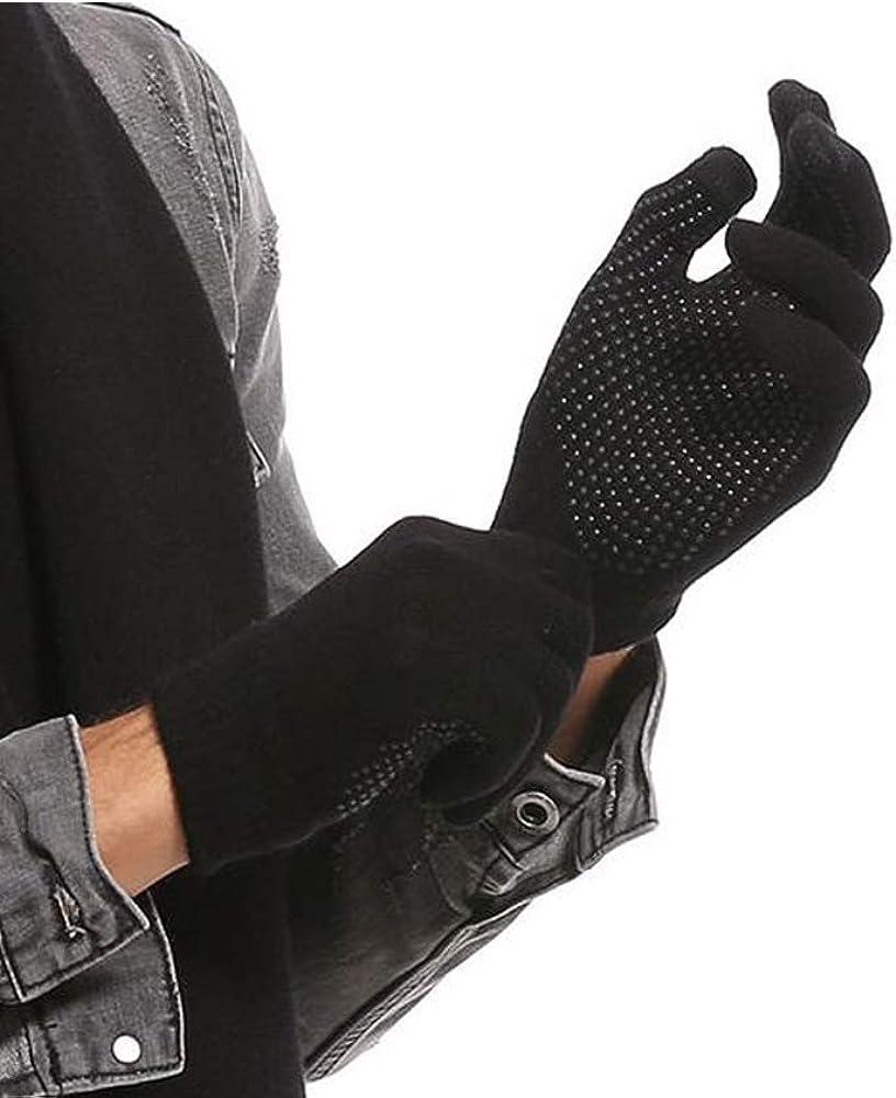 Touch Screen Gloves for Men and Women Winter Non-slip Plus Velvet Thick Warm Knitted Wool Gloves