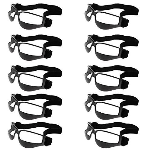 Gazechimp Basketball Dribbeln Trainingsbrille - beim Dribbeln ohne nach unten zu schauen - Training Üben Praxis Brille 10er/Pack, Schwarz