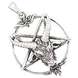 AFP Anhänger Baphomet Pentagramm 925 Sterling Silber AS-572