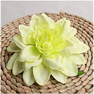 DETOAM 50pcs Artificial Peony Dahlia Flower Head Wedding Party Christmas Decoration DIY Silk Flower Wall Background Decor Accessories (Color : 6)