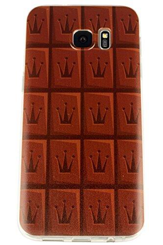 sonify–Cioccolato Cioccolato lavagna Choc Late Custodia in TPU Silicone Case per, Samsung Galaxy S7Edge–Custodia per cellulare Cover Custodia in Trasparente Marrone