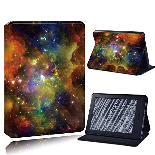Case Cover For Kindle,Pu Leather Anti-Fall Tablet Case For Kindle Paperwhite 1/2/3/Paperwhite(5Th/6Th/7Th/10Th)/For Kindle (10Th /8Th)6 Inch + Stlyus /Colorful Starry Sky/Anti Dust Fashion Accessorie
