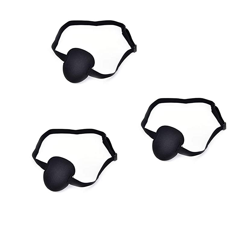 DatingDay 3Pcs Medical Concave Eye Patch Foam with Adjustable Strap