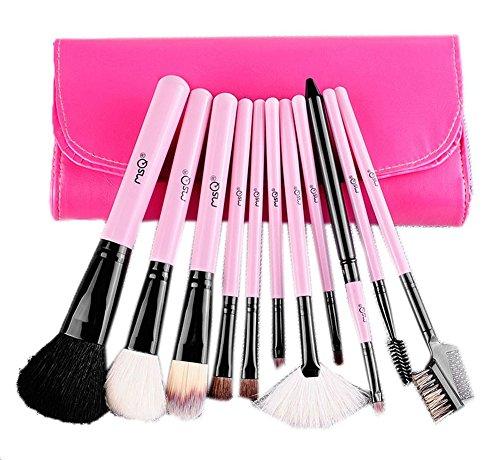 Ensemble de 11 professionnel pinceau maquillage, rose