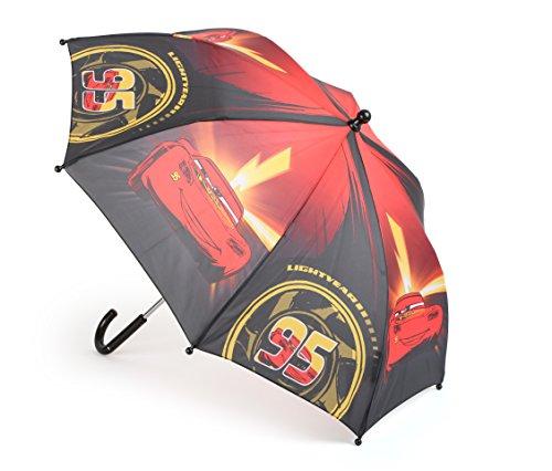 Disney, Cooles Cars-Design mit Motiven von Lightning McQueen, handliche Größe für Kinder Regenschirm, Plastik, Bunt, 68.00 x 68.00 x 58.00 cm