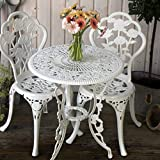 <span class='highlight'>Lazy</span> <span class='highlight'>Susan</span>™ London Rose 60cm Round 2 Seater | Sand-<span class='highlight'>cas</span>t Aluminium Garden <span class='highlight'>Furniture</span> <span class='highlight'>Set</span> | Weatherproof | Maintenance Free | <span class='highlight'>Matching</span> <span class='highlight'><span class='highlight'>Bistro</span></span> <span class='highlight'>Chairs</span> | Classic White Finish