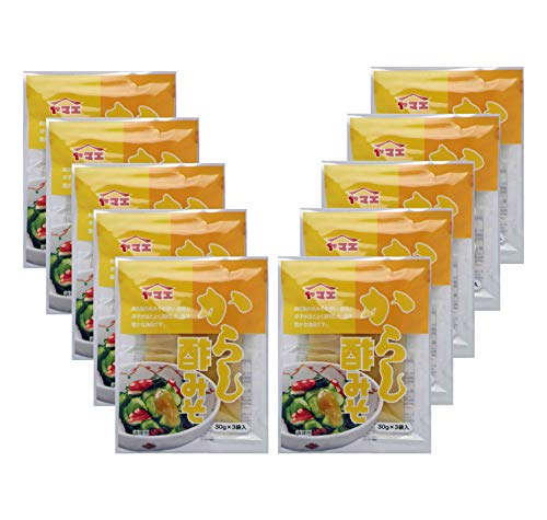 ヤマエ食品 からし 酢みそ (個食) 30gx3×10本