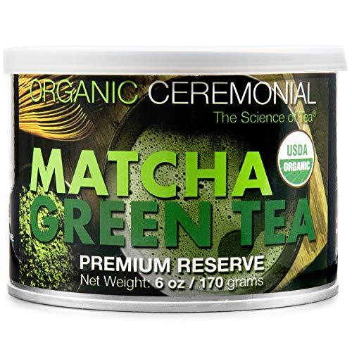 MatchaDNA Certified Organic Ceremonial Grade Matcha Green Tea Powder, TIN CAN (6...