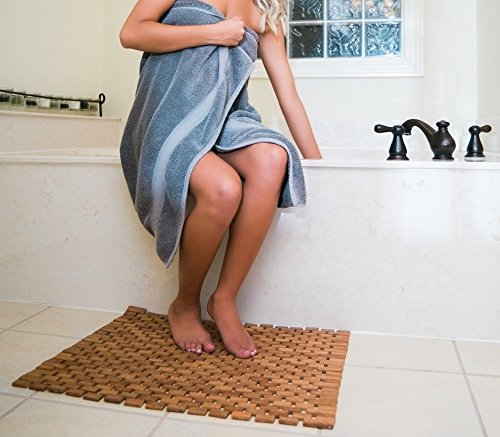 Teak Bath Floor Shower Mat