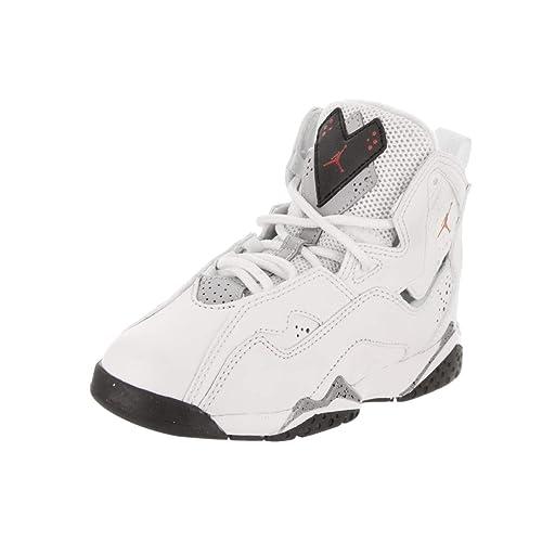 reputable site 151d7 ead44 Jordan Nike Boy s True Flight Basketball Shoe (PS), White Gym Red-