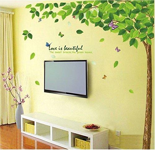 Decals Design 'Bestselling Leaves Tree' Wall Sticker (PVC Vinyl, 90 cm x 60 cm, Multicolour)