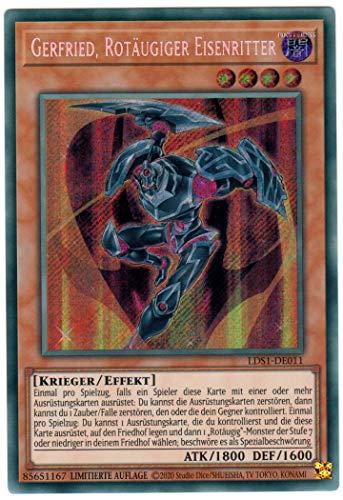 Konami - LDS1-DE011 - Gerfried, Rotäugiger Eisenritter - Secret Rare - Yu-Gi-Oh! - Deutsch - mit GECO® Versandschutz