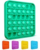 Colplay Pop Pop Fidget Toys,Push Pop Bubble Fidget Sensory Toy,Autism Special Needs Silicone Stress Relief Toy,Great Fidget Toy Sensory Toys Novelty Gifts for Girls Boys Kids Adults(Green-Square)