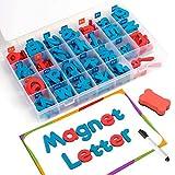 Lettres 208 Pcs avec le Conseil et boîte de rangement - Majuscules Minuscules mousse Alphabet Aimants ABC for Réfrigérateur Réfrigérateur - Set jouet éducatif for l'orthographe en classe Kids Learning
