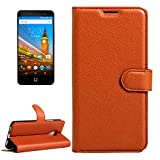 Cell Phone Flip Case for Wileyfox Swift 2 & Wileyfox Swift 2 Plus (5.0) Litchi Texture Horizontal Flip Leather Case with Magnetic Buckle & Holder & Card Slots & Wallet Phone Cover (Color : Brown)