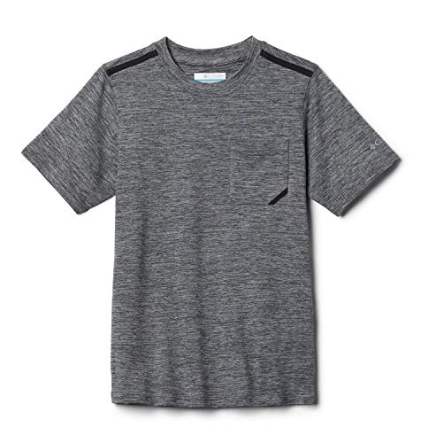 Columbia Kinder Tech Trek Kurzärmeliges T-Shirt für Jugendliche, Grau (City Grey Heather), XS