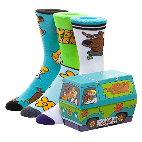 Scooby Doo Mystery Machine 3 Pack Crew Socks Set