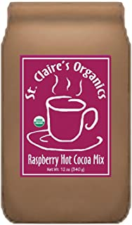 St. Claire's® Organic Gourmet Hot Cocoa, (Raspberry, 12 Ounce Bag, 20 servings) | Allergen-Free, Vegan, GMO...