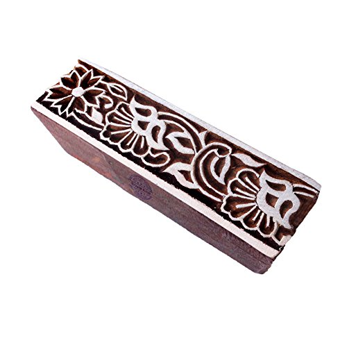 Royal Kraft Handgefertigt Blumen Motif Bordüre Holz Stempel für Drucken