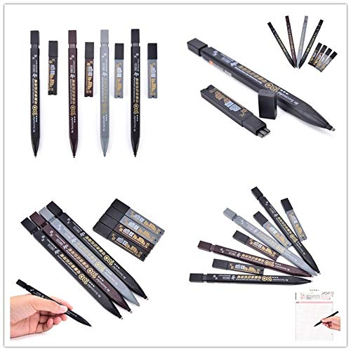 Mechanical Pencils - 1pcs 2b Set Black Color Mechanical Pencil Drawing Automatic Random Office School - That Eraser Velocity Under Erase Orange Thick Artists Sharpening Value Hard Rotring