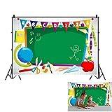 OFILA Polyester Online Teaching Backdrop 5x3ft Teachers Virtual Classroom Background Online Class Photography Backdrop ABC Photos Preschool Graduates Video VIP Kids Background Remote Teaching Photos