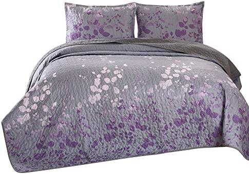 Masterplay 3 Piece Fine Printed Oversize 118 X 95 Quilt Set Bedspread Coverlet King Size Bed product image
