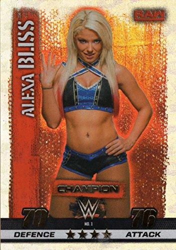 SLAM ATTAX 10 WWE Alexa Bliss Champion Trading Card - Wrestling