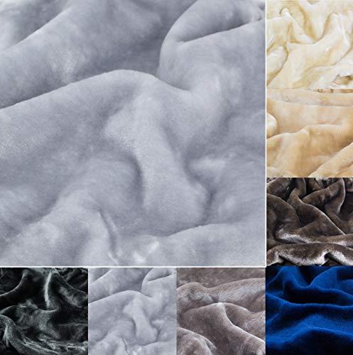 Kratzbaumland Premium-Edelplüsch für Kratzbäume (680g/m) 150 cm Rollenbreite (versch. Farben/Längen): Stofffarbe - Silbergrau, Länge - Muster 10x10 cm
