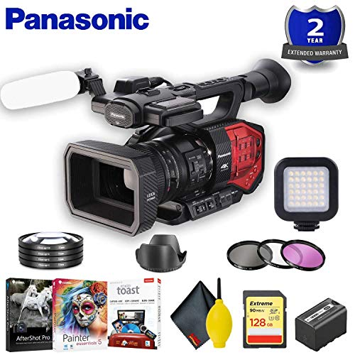 Review PanasPanasonic AG-DVX200 4K Camcorder with Four Thirds Sensor and Integrated Zoom Lens Access...