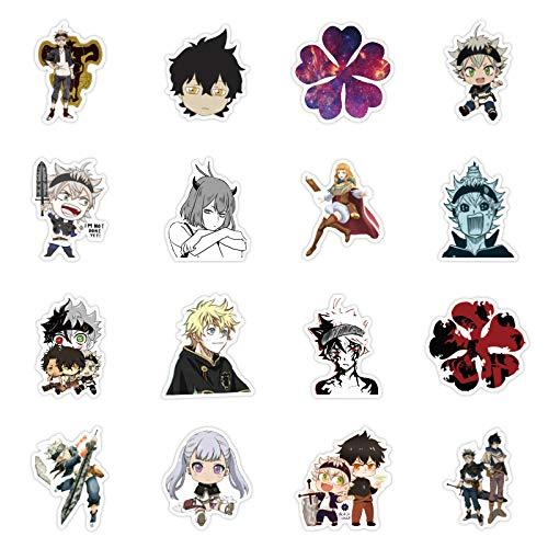 DSSJ 50 Pegatinas de Grafiti de Anime de trébol Negro, Maleta, Equipaje, Guitarra, Pegatina de Coche a Prueba de Agua