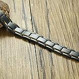 ShSnnwrl Estilo clásico Pulsera Los Hombres De Acero Inoxidable Negro Links Power Jewelry