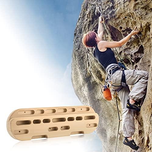 Vogvigo Tabla de Entrenamiento Escalada en Roca Tabla para Colgar Fuerza de los Dedos y Fuerza de la muñeca Entrenamiento para Colgar Práctica Diapasón Barra de tracción Cojinete 200KG -Color Natural