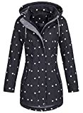 Top Fuel Fashion Damen Softshell-Kurzmantel IVANA - black/white dots